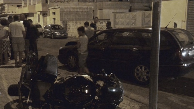 Pauroso scontro auto-moto all'incrocio di piazza Padre Pio